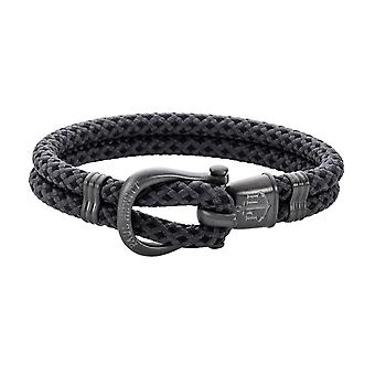 Paul Hewitt PH-SH-N-GM-BG Bracelet - PhINITY Nylon Grey Rifle Gun Steel