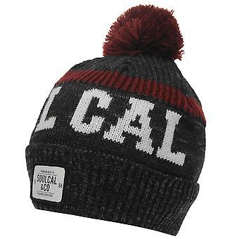SoulCal Mens Svarog chapeau Bobble hiver tricot