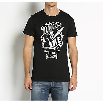 Black short-sleeved T-shirt Cesare Paciotti Beachwear men