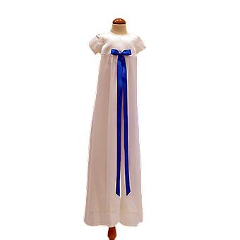 Dopklänning Grace Of Sweden, Stilren Med Turkos Rosett  Pr.ka