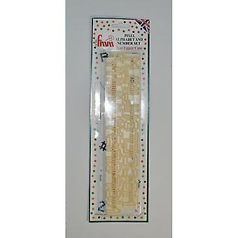 FMM Pixel Alphabet Hoofdletter en nummer Tappit Set Sugarcraft Cutters