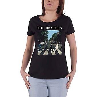 The Beatles T Shirt Abbey Road Band Logo nouveau officiel Womens Skinny Fit