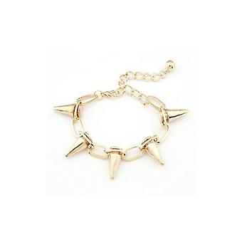 Retro Punk Rock Rivet Spike Borchie Bracciale In