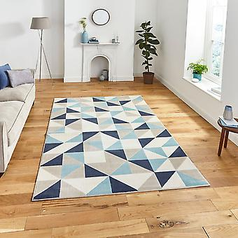 Vancouver 18214 Beige Blue Rectangle Rugs Modern Rugs