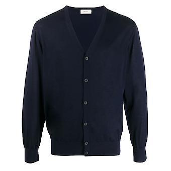Ermenegildo Zegna Vum96zz157b09 Men's Blue Cotton Cardigan