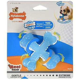 Nylabone X Bone Puppy Teething S Beef Flavor (Dogs , Toys & Sport , Chew Toys)