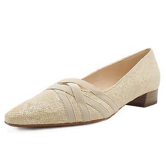Peter Kaiser Liesel Low Heel Shoes In Sand Tiles