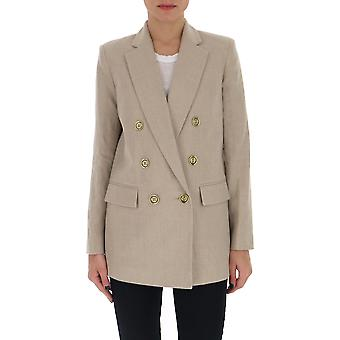 Michael By Michael Kors Ms01exba19101 Women's Beige Cotton Blazer