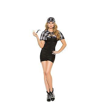 Eleganta moments kvinnors Sassy Detective Investigator Halloween kostym