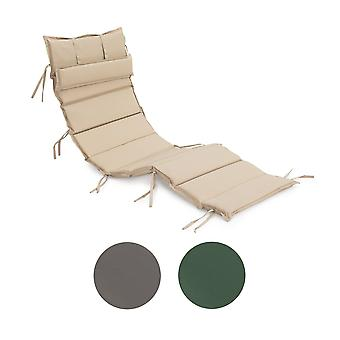Garden Furniture Patio Recliner Water Resistant Sun Lounger Stone Cushion Pad