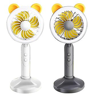 Mini portable cooling fan handheld cooler led light desktop phone holder