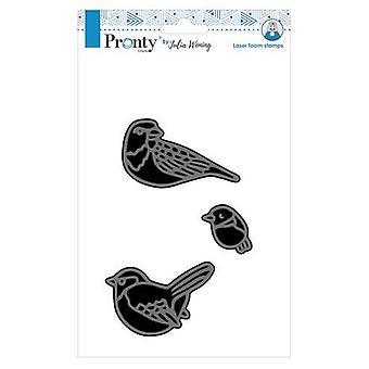 Pronty Foam stämpel Nya 3 fåglar som 494.904.018 Julia Woning