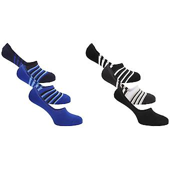 Floso Mens Invisible Trainer Socks (Pack Of 3)