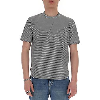 Junya Watanabe T0170511 Men-apos;s Blanc/noir T-shirt en coton