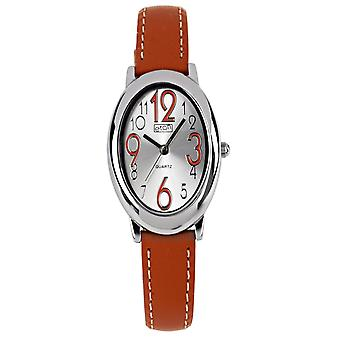 Eton Fashion Watch, Oval Case, Orange Leather Strap 3198L-OR