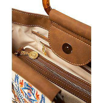 Desigual Women's Savana Bacau Shopper Tasche mit afrikanischen Giraffe Stickerei & starren Griff