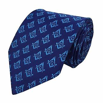 Frimurer regalia håndverket murere silke slips med firkantet kompass & g lodge gave