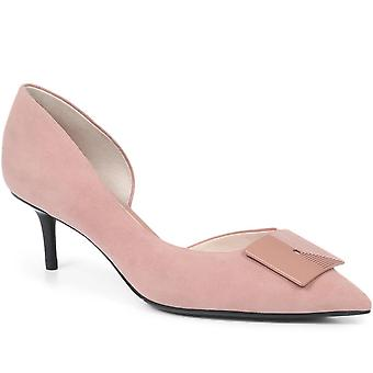 Staccato Womens Heeled Leather Court Shoes