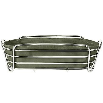 Blomus bread basket DELARA chrome-plated steel wire with cotton insert Agave Green