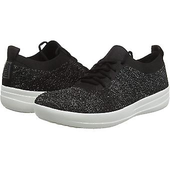 FitFlop Women-apos;s F-Sporty Uberknit Sneakers-Crystal Trainers