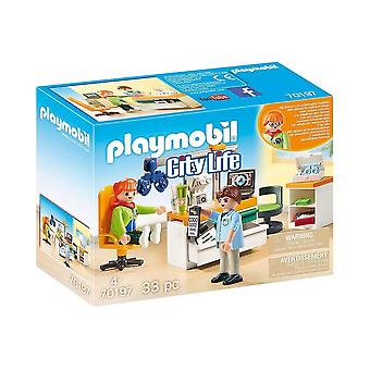 playmobil 70197 city life optician playset 33pcs for ages 4 and above