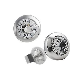 Diamonfire-PIN korva korut-Zirkonia-hopea Sterling 925