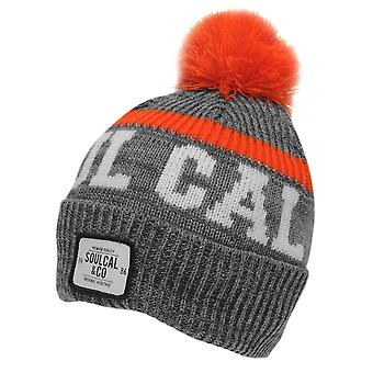 SoulCal Mens Svarog chapéu Bobble inverno malha