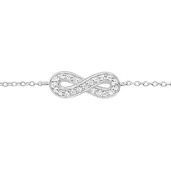Infinity - 925 Sterling hopea ketjun rannekorut - W17877x