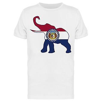 Il Missouri Repubblicano Elefante Tee Uomini's -Immagine di Shutterstock