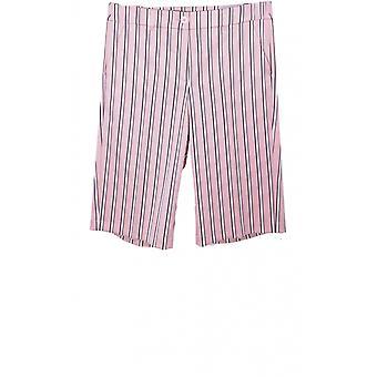 Taifun Pink Striped Shorts