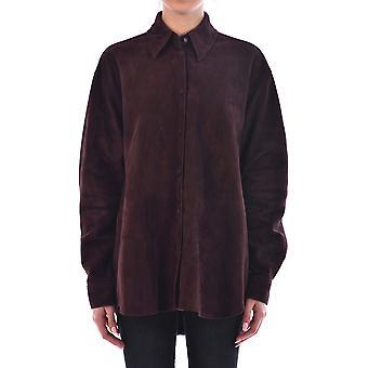 Loewe S1109838f3310 Mujer's Camisa de ante marrón