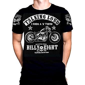 Billy eight - v-twin talking loud - t-shirt