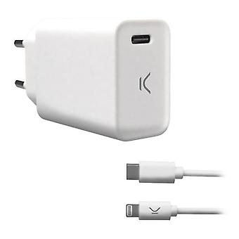 Wall Charger KSIX MFI 18W White