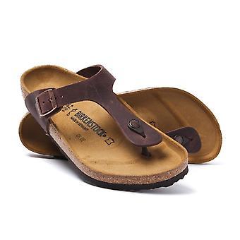 Birkenstock bruinleren Gizeh sandalen