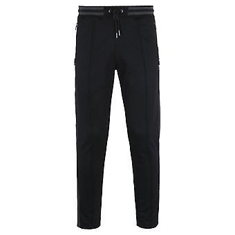 Luke 1977 Of London Zip Detail Black Track Pants