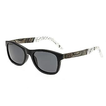 Earth Wood El Nido Polarized Sunglasses - Black/Black