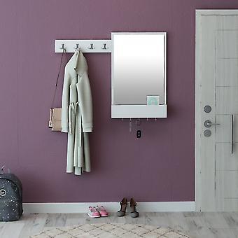Mobile Ingresso Avalon Colore Bianco, Cromo in Truciolare Melanimico, Metallo, L108xP12xA85 cm