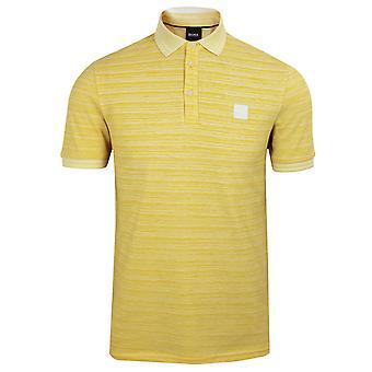 Hugo boss men's yellow pself polo shirt