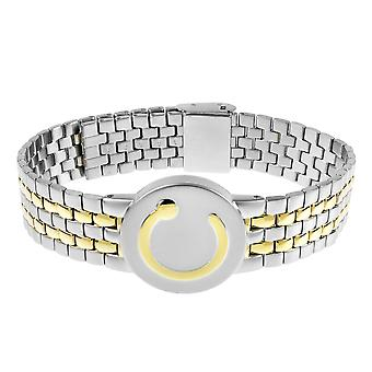 Elite Magnetic Bracelet Two Tone (Size: Ladies 120-200mm)