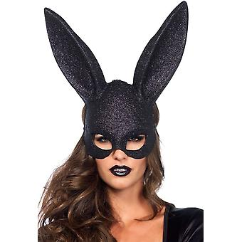 Mask Rabbit Glitter Blk For Adults