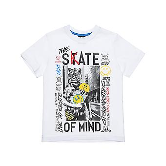 Alouette Boys' Smiley T-shirt med print