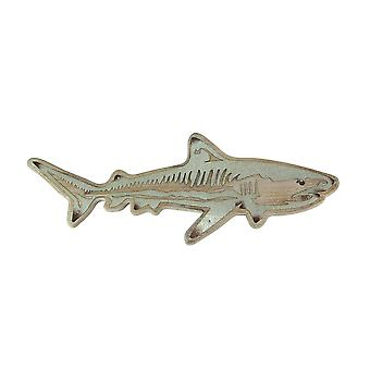 33 بوصة الخشب المعادن بالأسى لهجة القرش الجدار شنقا لوحة الزخرفية فن المحيط النحت