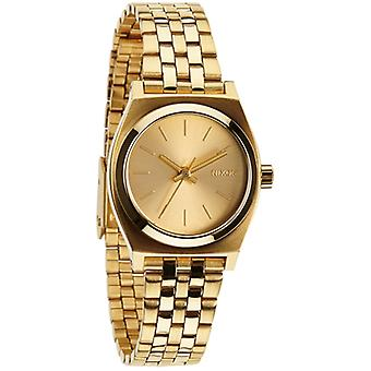 Nixon mini time teller Watch for Women Analog Quartz with Stainless Steel Bracelet in A399502 Gold Plated