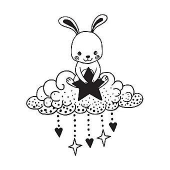 Aladine Wooden Stamp Rabbit Dreams