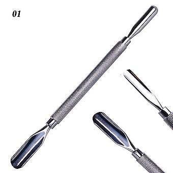 Stainless Steel R Manicure Pedicure Nail Care Tools - Nail Art Double Sided Cuticle Finger Dead Skincut Remover