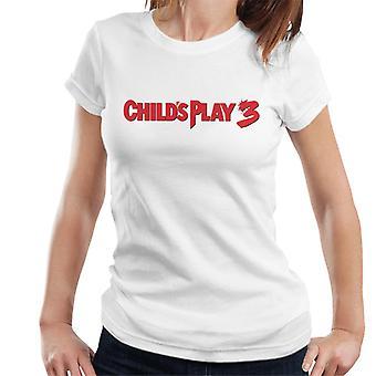 Chucky Childs spela 3 Classic logo kvinnor ' s T-shirt