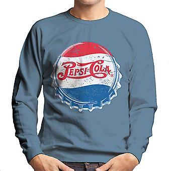 Pepsi Cola 1945 Extra Distressed Bottlecap Männer's Sweatshirt