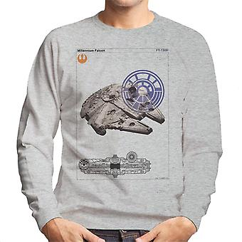 Star Wars Millenniumm Falcon prostokątnego męska Bluza