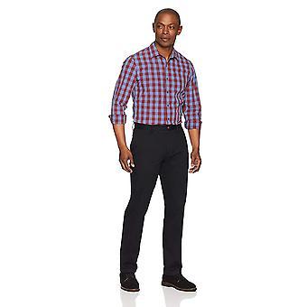 Essentials Men's Slim-Fit Wrinkle-Resistant Flat-Front Chino Pant, Black, 38W x 30L