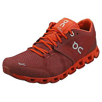 On Running Cloud X Mens Running Trainers in Sienna Rust